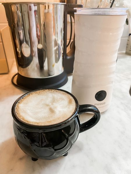 My favorite milk frother for lattes, makes hot or cold foam  Cauldron mug Halloween coffee mug    #LTKhome #LTKHoliday #LTKSeasonal