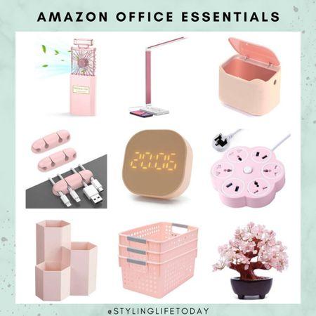 Office essentials. Work accessories. Office decor.Work from home. Amazon home. Pink decor  #LTKeurope #LTKbacktoschool #LTKhome
