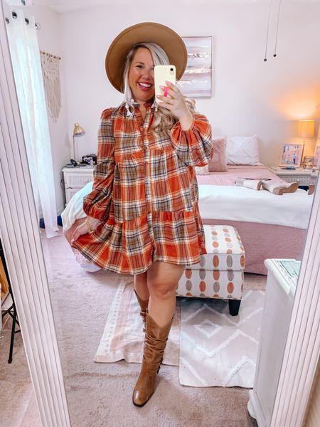 Let's go to the pumpkin patch 🎃  Wearing a large in the dress.     #LTKunder50 #LTKstyletip #LTKSeasonal
