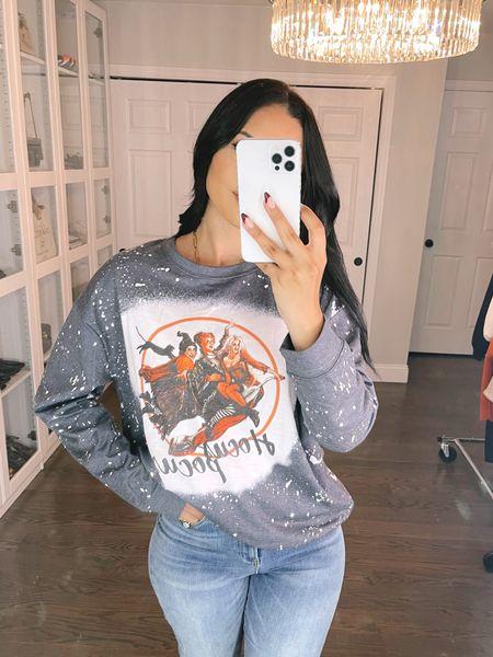 Amazon prime Hocus pocus sweatshirt! I'm wearing Latge   #LTKGiftGuide #LTKunder50 #LTKHoliday