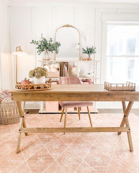 Home office set up Ruggable rug World market desk Basket Shelf and organization  http://liketk.it/39ck6 @liketoknow.it #liketkit #LTKhome @liketoknow.it.home #StayHomeWithLTK #LTKunder100