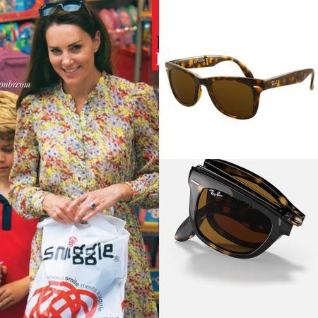 Kate wearing Ray ban wayfarer folding sunglasses   #LTKstyletip #LTKeurope