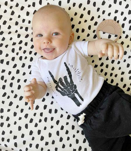 B A B Y \ West is getting spooky over here!!💀💀💀  #baby #halloween #babycostume #halloweencostumw #babyboy  #LTKHoliday #LTKSeasonal #LTKbaby