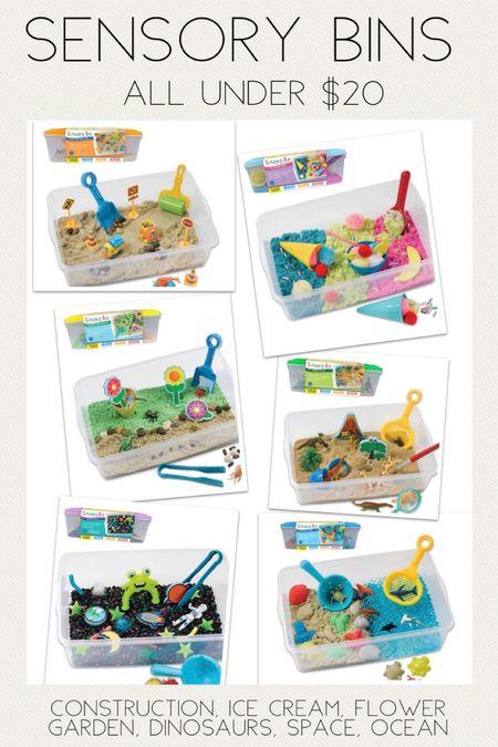 Kids sensory bins.  Sensory toys