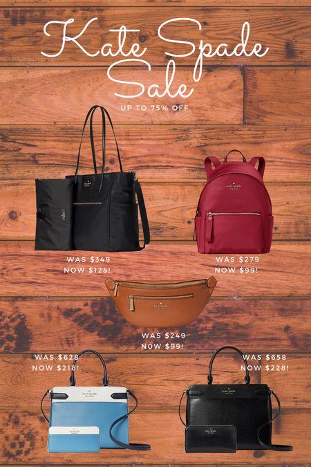 Sale Alert! Kate Spade has certain items up to 75% off, diaper bags, purses, bundles and backpacks  #LTKitbag #LTKsalealert #LTKworkwear