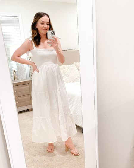"""Another one of my favorite dresses for spring from Petal + Pup! Comes in 2 other colors. Wearing a size 4 and I'm 5'3"""" and 120lbs 💕 http://liketk.it/39c17 #liketkit @liketoknow.it  #LTKSeasonal"""