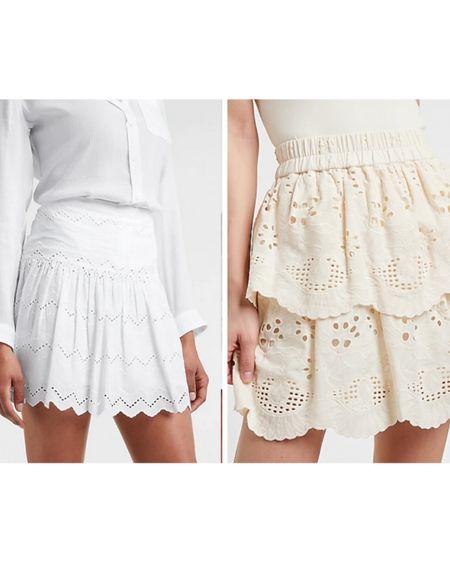 Eyelet white skirts Ruffle skirt  Eyelet skirt  White skirt   @liketoknow.it #liketkit http://liketk.it/3f7SN #LTKunder100 #LTKstyletip
