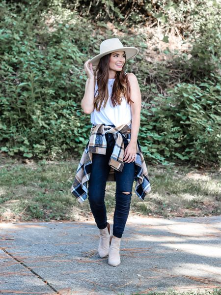 Fall outfit, flannel, shacket #amazon