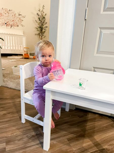 Vivian's little table. Linked ours from Wayfair and the PB Kids one I had my eye on. The similar IKEA table is Sundvik!