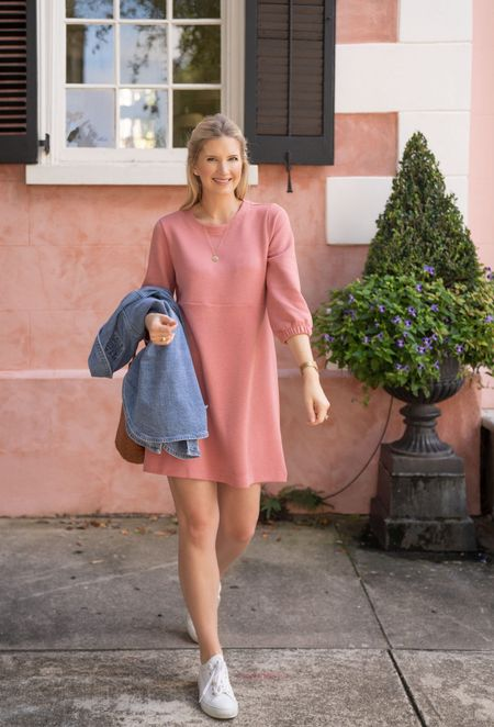 $18 Shift dress that comes in 4 colors! Wearing size small. #walmartfasion #ad  #LTKunder50 #LTKfit