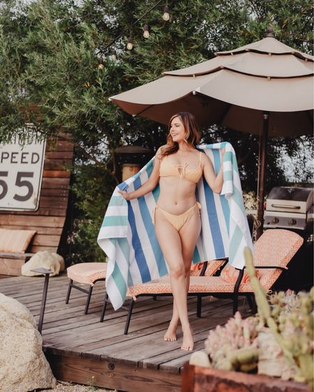 Bikini is a little cheeky but love the way it fits.   @liketoknow.it http://liketk.it/3jjdl #liketkit #LTKunder50 #LTKswim