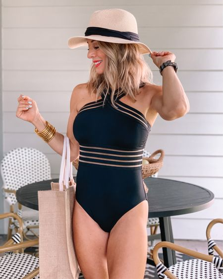 Hi friends!  Mark your calendars!!  🗓AMAZON PRIME DAYS are coming soon - June 21 & 22!  🥳 But, you don't have to wait to start shopping the epic deals!  My favorite, ultra flattering one-piece swimsuit is on ⚡️Lightening Deal ⚡️ now!    After trying on several 'meh' swimsuits, when I tried this one on, it was an immediate HELL YES!  ♥️ It's flattering on every shape  and covers you up since it's a one-piece, but it's sassy with the mesh middle and criss cross neck.    I love how slimming it is, especially in all black.  But, it does come in more colors.   Fits TTS: wearing size 4-6   http://liketk.it/3hE90 #liketkit @liketoknow.it #LTKunder50 #LTKsalealert #LTKswim