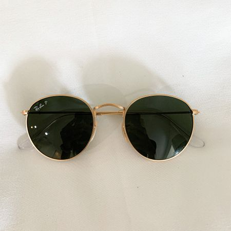 If I'm not wearing sunnies from my store, these are my go-to Rayban circle sunglasses! #rayban #sunglasses #gold #round #frames   #LTKunder100 #LTKstyletip #LTKSeasonal