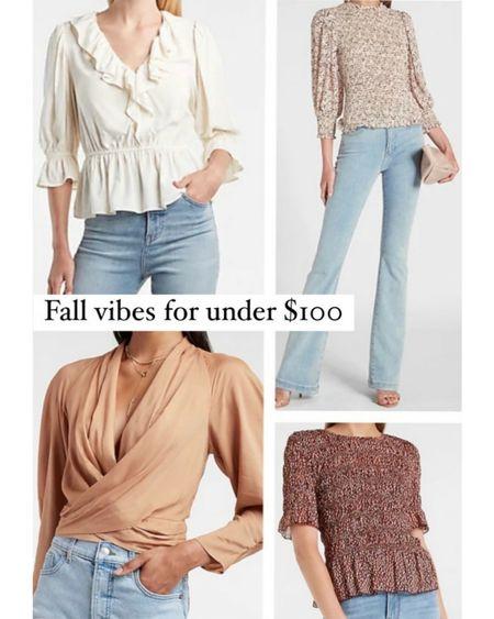 Under $100 Fall Tops, Fall Finds, Express Fashion,     http://liketk.it/3o8nZ @liketoknow.it #liketkit  #LTKunder100 #LTKSeasonal