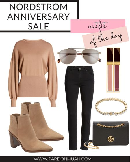Nordstrom anniversary sale in stock outfit of day!