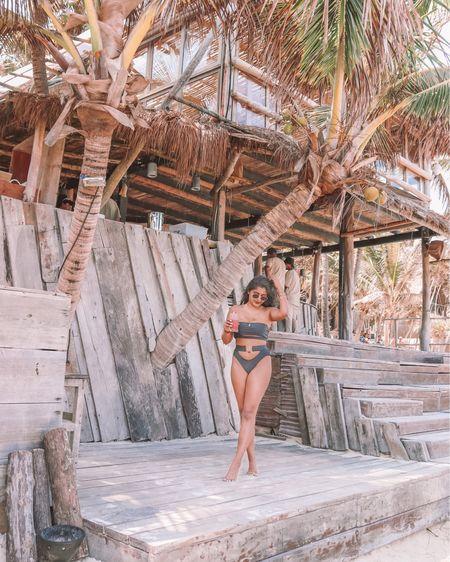 Missing the Beachy hair, sunny days and straw berry margarita mornings! I'm ready for a second vacation ✈️  . . Shop the bikini under $20 1️⃣ http://liketk.it/3eZSy  2️⃣ link in bio   #liketkit #LTKunder50 #LTKstyletip #LTKtravel @liketoknow.it #tulum #papayaplayaproject #beachvibes