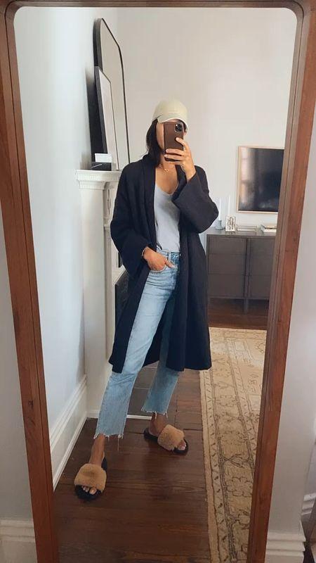 Rainy day OOTD 🙌🏽 New cardigan/coatigan from Target is so good. Size down, runs very big!   #LTKunder50 #LTKSeasonal #LTKstyletip