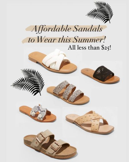Shop #LTKshoecrush with these super affordable sandals that actually look expensive! All sandals are under $25! #LTKunder50 http://liketk.it/3eaVh #liketkit @liketoknow.it