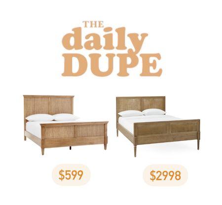 Cane Bed, Wicker Bed, Bed Frame, Bedroom Furniture, Daily Dupe, Save vs Splurge   #LTKhome