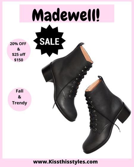 Madewell Boots!! #madewell #fallfashion #boots #booties #combatboots    #LTKshoecrush #LTKDay #LTKSale