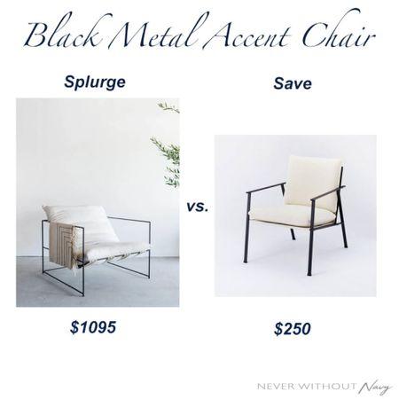 Black Metal Accent Chair Splurge on Croft House Design vs. Target Home Studio McGee   #LTKhome