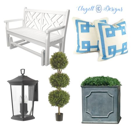 My favorite outdoor purchases, here! #outdoors #blueandwhite #chippendale #topiaries   #LTKhome #LTKstyletip