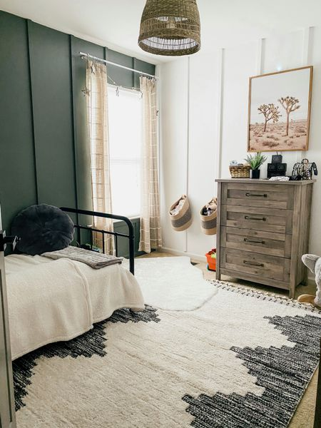 Updated toddler bedroom inspo. Wall colors are valspar bistro white & sherwin Williams rosemary http://liketk.it/3d1u0 #liketkit @liketoknow.it #LTKfamily #LTKhome #LTKkids @liketoknow.it.home Download the LIKEtoKNOW.it shopping app to shop this pic via screenshot