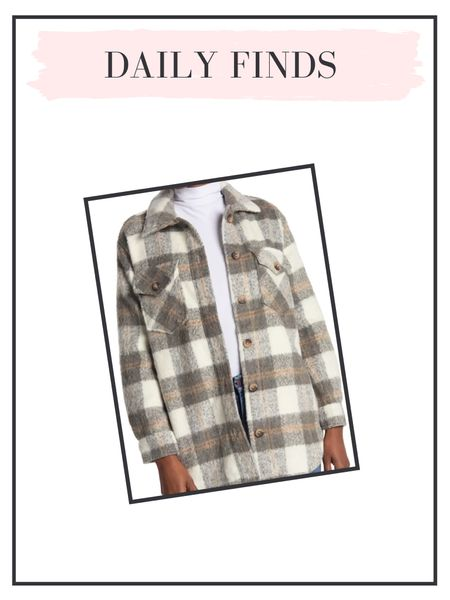 Daily finds: the perfect plaid shacket!   #LTKSeasonal #LTKunder50 #LTKunder100