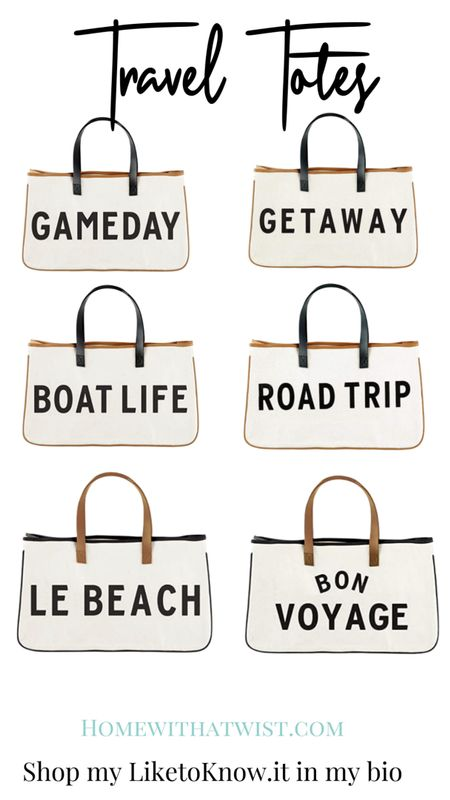 Aren't these the cutest travel totes! Perfect for all your summer getaways. Gift them to girlfriends for weekend road trips! http://liketk.it/3gZxr @liketoknow.it #liketkit #LTKtravel #LTKstyletip #LTKunder50 Download the LIKEtoKNOW.it app to shop this pic via screenshot