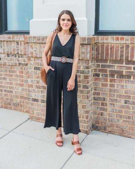 Lulus black jumpsuit (tts) http://liketk.it/3hssE #liketkit @liketoknow.it #LTKunder100 #LTKstyletip