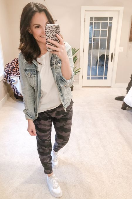I'm in love with these camo joggers, I'm going to order them in a few more colors! I love where they hit on my waist and the material is so soft! They are true to size, I'm wearing a medium.   http://liketk.it/3asRv #liketkit @liketoknow.it   Shop my daily looks by following me on the LIKEtoKNOW.it shopping app