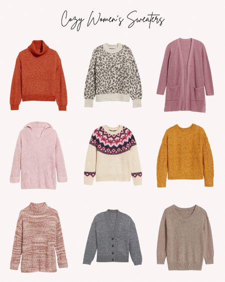 Women's sweaters, cozy, fall, winter, turtleneck, pullover, cardigan   Follow me for more ideas and sales.   Double tap this post to save it for later    #LTKSeasonal #LTKstyletip #LTKunder50