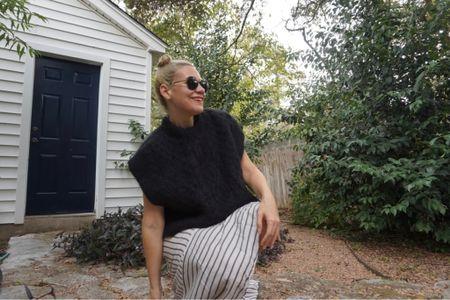 Sweater vests. Stripes. Maxi skirts. My new fall uniform #investmentpiece   #LTKstyletip #LTKSeasonal #LTKunder100