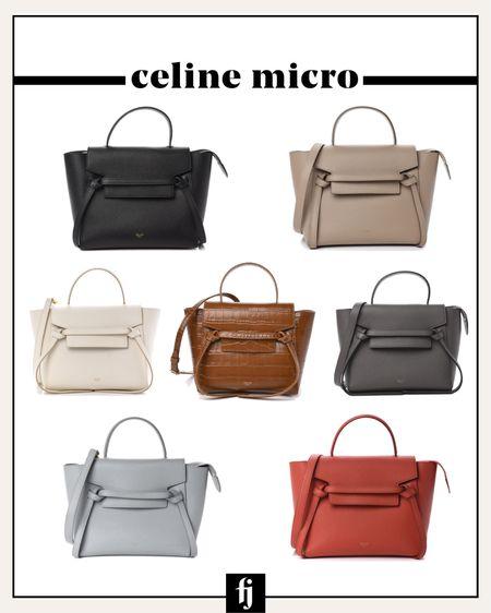 Love my new Celine micro handbag that can be worn crossbody! Linked new and pre-loved options http://liketk.it/3iboJ #liketkit @liketoknow.it #LTKitbag #LTKstyletip #celine #designerhandbag