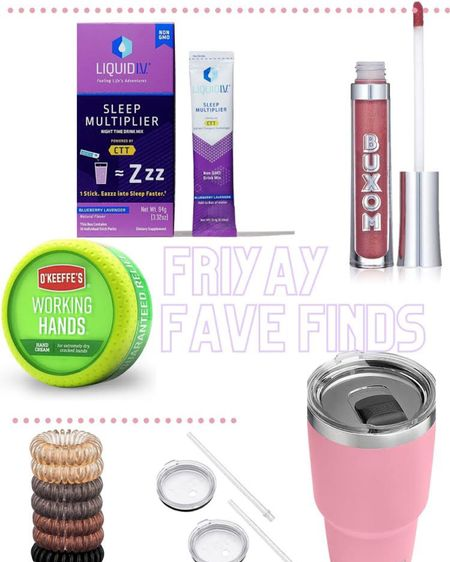 Here are my Amazon Friday Faves! I love the working hands cream to help me with my dry and cracked winter hands. Everyone in my family uses this cream and it helps a lot! I love this Buxom lip gloss in the Clair color. So pretty and it helps plump your lips! I'm obsessed with my pink yeti water tumbler because it helps me drink a lot of water throughout the day! I love these Kitsch hair ties because they don't cause breakage to your hair. Lastly, I'm into this Liquid IV sleep aid that helps me get and stay asleep faster! Click here to shop my Amazon Friday Faves! http://liketk.it/38ISi #liketkit @liketoknow.it #StayHomeWithLTK #LTKbeauty #LTKfamily Follow me on the LIKEtoKNOW.it shopping app to get the product details for these favorites and others!
