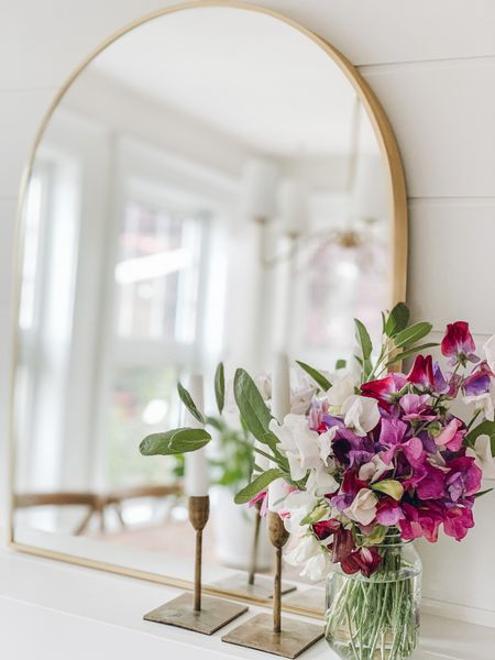 Arched gold mirror   #LTKhome