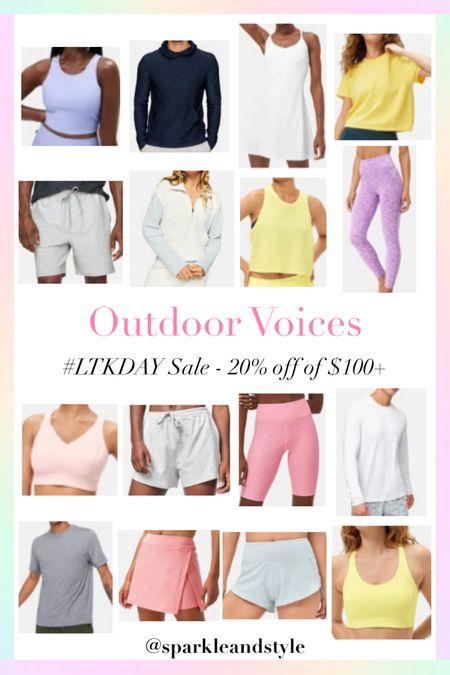LTK Day Sale: Outdoor Voices - 20% off $100+    http://liketk.it/3hyZx @liketoknow.it #liketkit #LTKDay #LTKfit #LTKsalealert   Workout wear, workout clothes, fitness clothes, workout leggings, workout shorts, workout tops, sports bras, workout skirt, tennis skirt, workout dress, tennis dress, sweatshirt, workout tank top