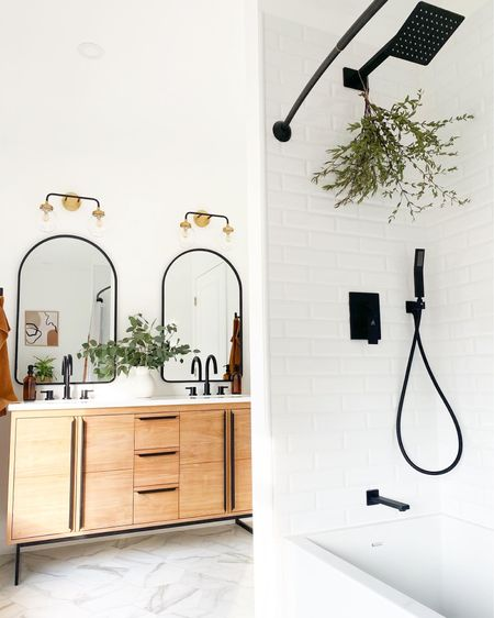New bathroom remodel!  Vanity is from @signaturehardware Shower head and handle is from @houzz.   http://liketk.it/3dPKq #liketkit @liketoknow.it