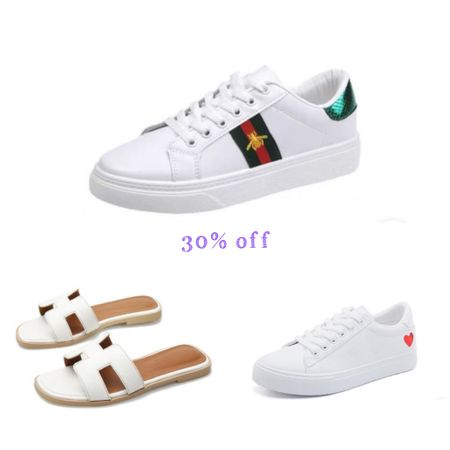 Sneakers. White sneakers. Sandals. Sale.   #LTKstyletip #LTKunder50 #LTKshoecrush