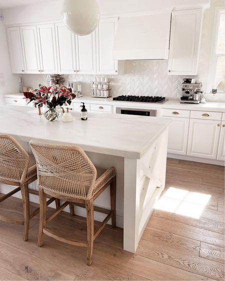 White kitchen style, kitchen decor, counter accessories, espresso maker, StylinAylinHome   #LTKunder100 #LTKstyletip #LTKhome