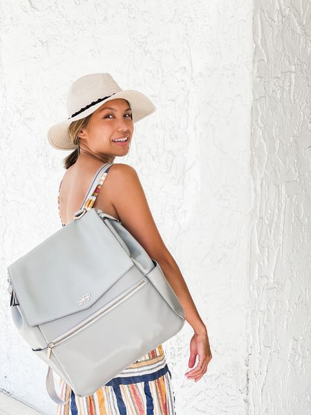 """Freshly Picked diaper bag that converts from a shoulder bag to a backpack! Mine is in the color """"Stone."""" Holds everything I need for my toddler. Great baby shower gift or addition to your baby gear. Available in so many other colors and in a mini size too!  #LTKfamily #LTKbump #LTKbaby"""