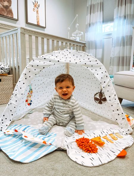 Happiest when it's playtime with @lovevery !  Linking all my favorite baby boy nursery items including Christian's @lovevery play gym and play kit! #loveverygift #lovevery   #LTKbaby #LTKfamily #LTKhome