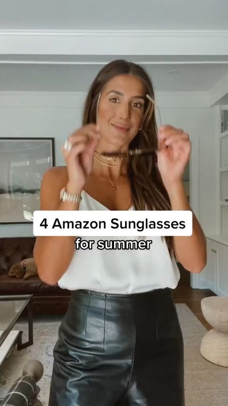 Amazon sunglasses for summer (under $20)   #LTKunder50 #LTKstyletip #LTKswim