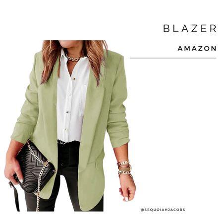 Amazon blazer Amazon fashion, Amazon finds, blazers, work outfit, casual. #liketkit @shop.ltk  #LTKstyletip #LTKworkwear #LTKunder50