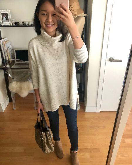 Love this soft oversized poncho. 😄 I took size XXS regular (it also comes in petites). @liketoknow.it http://liketk.it/2xvXn #liketkit #LTKshoecrush #LTKstyletip  #LTKunder100