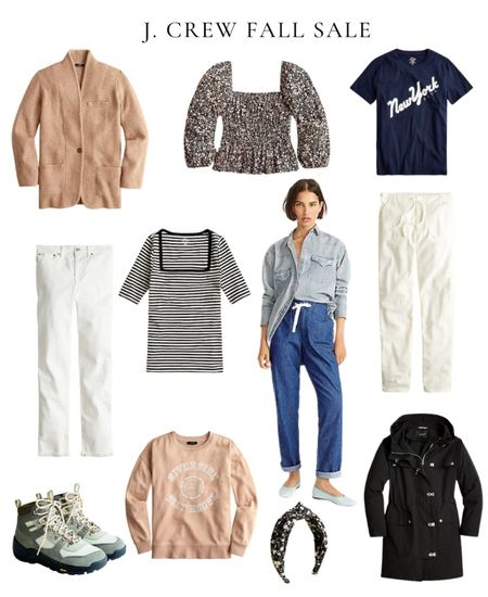J. Crew fall sale, fall outfits, sweater, fall jacket, hiking boots