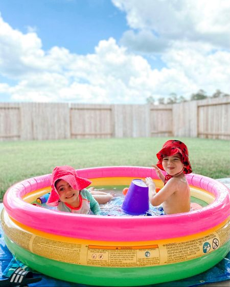 It's 90 here in Houston! Time to break out the kiddie pool! My kids love this one we got last year- it has a nice pillowy cushion at the bottom and has held up nicely.  We place a tarp under it when on the patio  to protect it.   And the pool is currently on major sale! (Almost half off!!)     Amazon finds, amazon home, kiddie pool, kids activities, outdoor activities, water activities, #ltkfamily #ltkswim #ltkshoecrush   #LTKunder50 #LTKkids #LTKsalealert