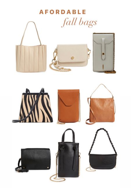 Affordable fall bags + purses for women. Crossbody purse. Tote bangs. Bucket bags. Neutral leather purses. Nordstrom favorites.  #LTKitbag #LTKunder100 #LTKSeasonal