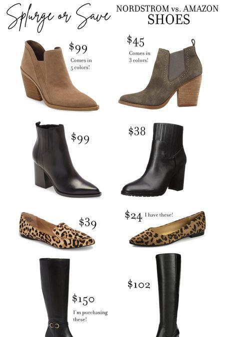Splurge or Save! Nordstrom Sale vs Amazon Prime - shoes edition! #nsale #nordstromsale