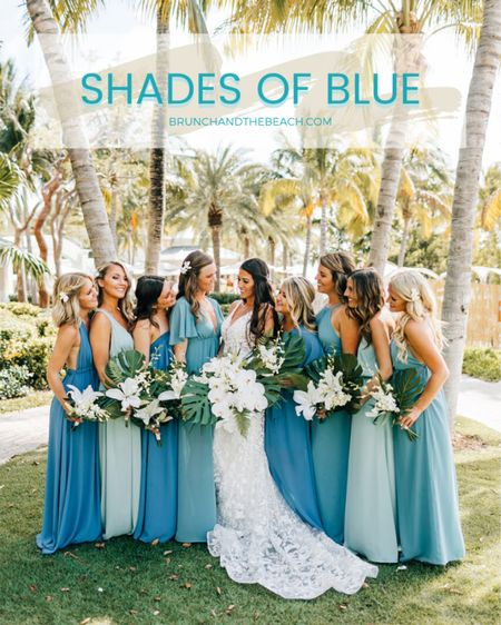 Shades of blue bridesmaid dresses 💙 http://liketk.it/2QxX8 #liketkit @liketoknow.it #LTKwedding #LTKstyletip